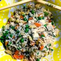 Cantonés arroz vegano paso 1