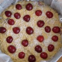 De coco pastel y las cerezas paso 5
