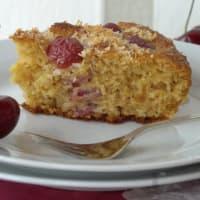 De coco pastel y las cerezas paso 6