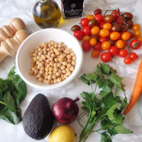 Chickpea and Vegetable Salad step 2