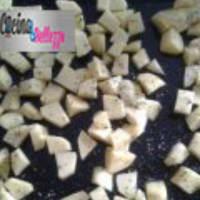 LEER albóndigas con patatas cocidas al horno, crujiente y sabroso paso 3