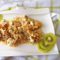 Pollo en salsa de kiwi y las almendras paso 4