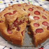 Torta morbida fragole yogurt