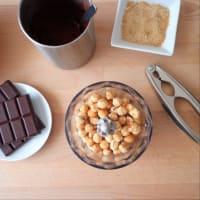 salsa de chocolate y avellanas paso 2