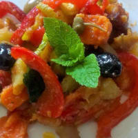 Caponata in sour taste