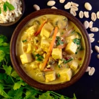 Satay tofu stufato