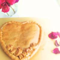 Tarta de limón con rosas