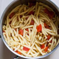 rúcula pasta fría y pimienta paso 6