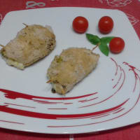 Chicken breast rolls with zucchini and currant heart ...