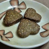 Corazones de harina de castañas y nueces