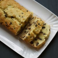 Plumcake with coconut and chocolate drops