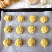 Albóndigas con el calabacín y queso ricotta paso 2