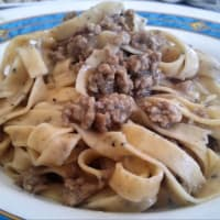 Tagliatelle with truffle with white ragout