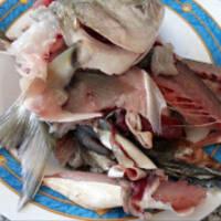 La mitad de las mangas con el calabacín y crema de pescado con pesto paso 1