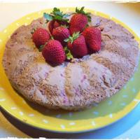 luz rosquilla en Farro y la soja Crema Con Fresas