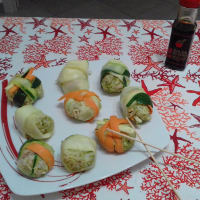 Fake Sushi With Vegetables And Tuna ...