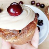Muffins de chocolate blanco de coco