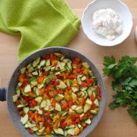 Tortilla con verduras y al horno ricotta paso 1