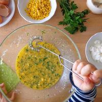 Tortilla con verduras y al horno ricotta paso 3