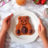 Los osos con las zanahorias del corazón del chocolate