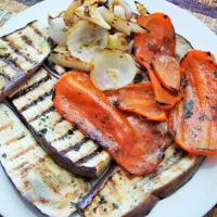 berenjenas y pimientos Sandwich paso 1