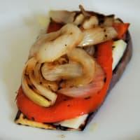 berenjenas y pimientos Sandwich paso 2
