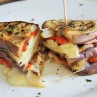 berenjenas y pimientos Sandwich paso 3