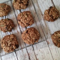 Oatmeal Cookies, Orange, Seeds and Nuts