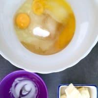 Tarta de trigo sarraceno, melocotones y almendras paso 1