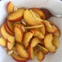 Tarta de trigo sarraceno, melocotones y almendras paso 4