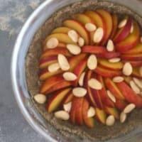 Tarta de trigo sarraceno, melocotones y almendras paso 5