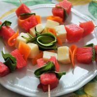 Spiedino di anguria e parmigiano step 1