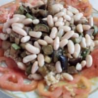 Bulgur con verduras y alubias blancas