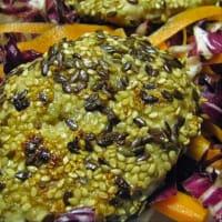 hamburguesa de pavo con semillas mixtos