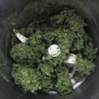 Pesto de hojas de zanahoria y nueces con el aroma del cardamomo paso 5