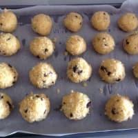 Galletas con virutas de coco y chocolate para el aroma de naranja paso 8