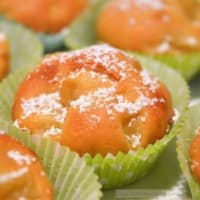 Muffin apples and fleshy cinnamon