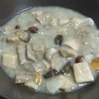 setas sopa y alcachofas de Jerusalén