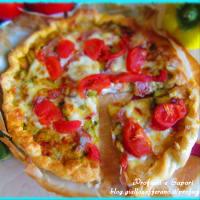 Torta Salata Alle Verdure con pomodori, zucchine e peperoni
