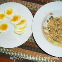 Aspic de atún y huevos paso 1