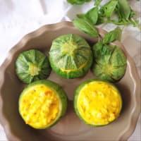 Zucchine ripiene di formaggio alle olive e erbe step 4