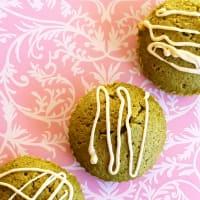 Mini cakes de te verde