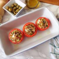 Pomodori ripieni di cereali, feta e olive step 4