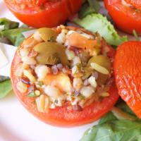 Pomodori ripieni di cereali, feta e olive step 5