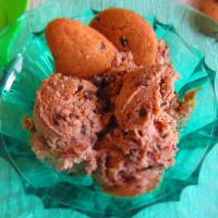 Helado con ningún helado cremoso Gocciole