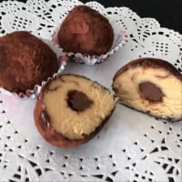 Truffles with Nutella Heart