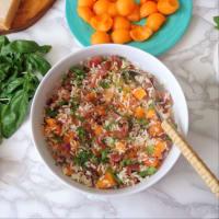 Ensalada de arroz, melón, jamón y rúcula paso 2