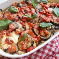 Light eggplants parmigiana