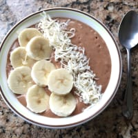 Smoothie bowl of chocolate