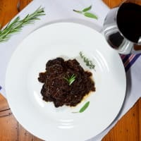 Braised wild boar
